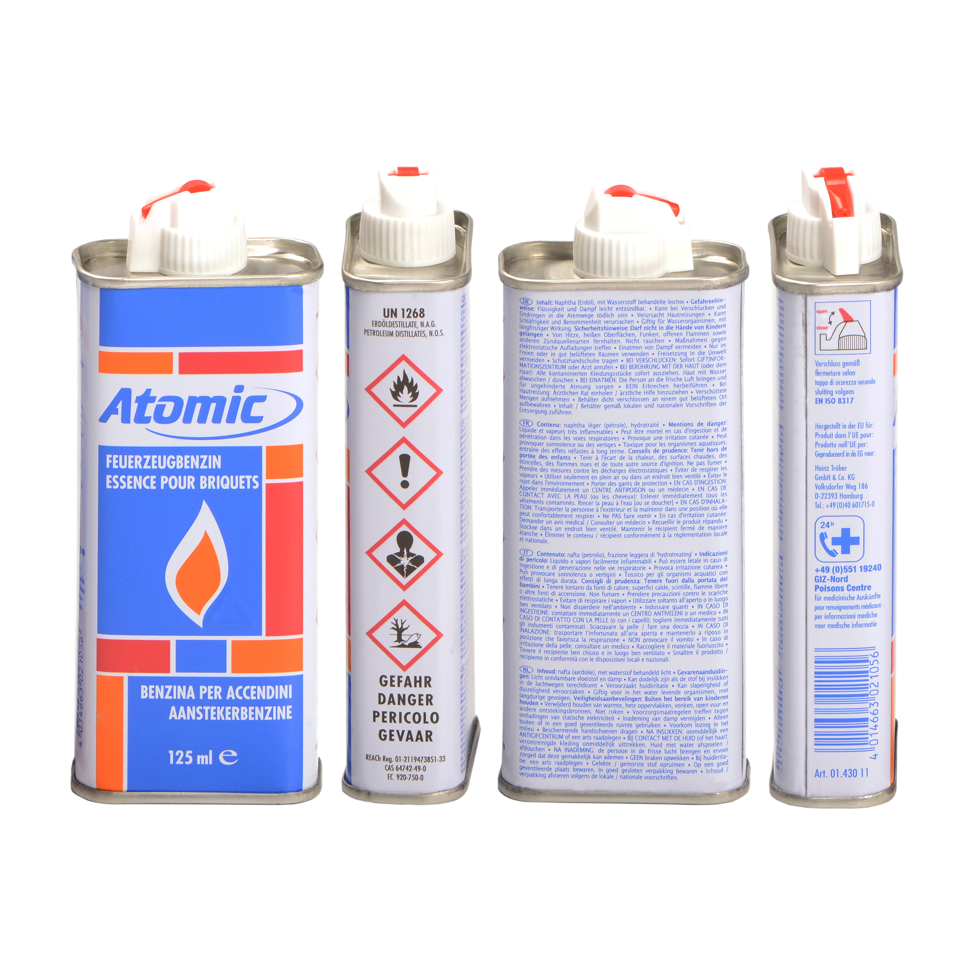 Benzyna do zapalniczek 0143011 Atomic 125 ml