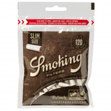 Filtry papierosowe 43405 Smoking Brown Slim, 6 mm, 120 szt./op.