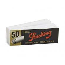 Filtry papierosowe do zwijania 43501 Smoking DeLuxe Tips, 50 szt./op., 60x20 mm